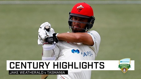 Weatherald punishes Tigers with sixth Shield century