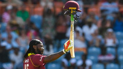 'Ridiculous' Gayle hits 14 sixes in ODI blitz