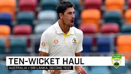 Starc finds form with 10-wicket haul