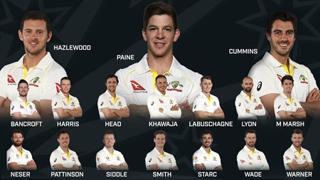 Aussie Test squad for Ashes defence confirmed