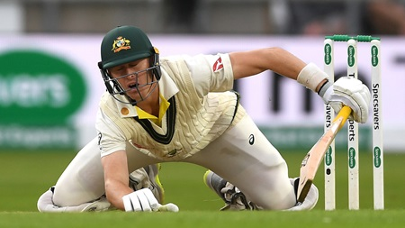 Labuschagne scraps for half-century before bizarre exit