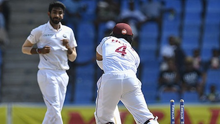 Bumrah's stump-destroying spell sinks Windies