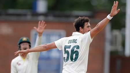 Starc mops up with triple-wicket maiden