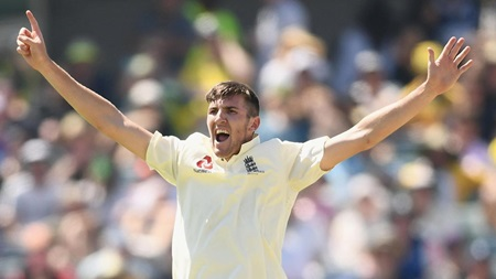 Overton's six wickets from 2017-18 Ashes series