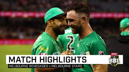 Maxwell blasts Stars to derby victory over Renegades