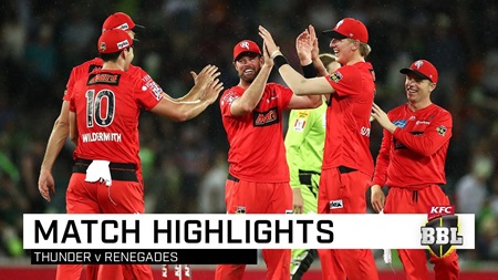 Renegades record first BBL|09 win despite rain, Thunder