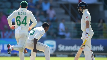 Rabada banned following Root celebration