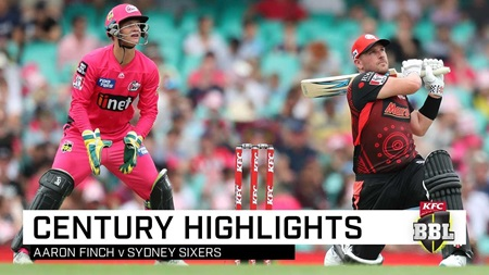 Finch flays Sixers in stunning Big Bash century