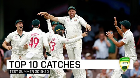 Counting down the top 10 catches of the Test summer