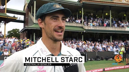 Starc reflects on dominant summer for Australia