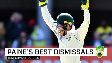 The best of Paine's glovework in the home Test summer