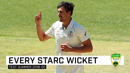 Every wicket: Watch all 29 of Starc's wickets for the summer