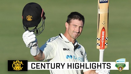 Marsh joins WA greats with another Shield hundred