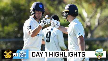 Blues dominate day one after being sent in