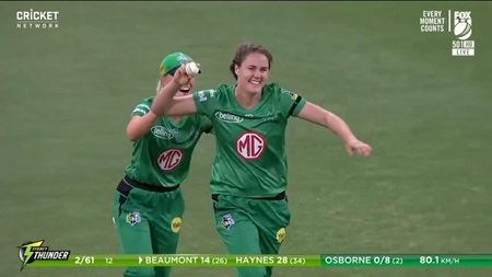 Sciver screamer! Nat flies to reel in a left-handed miracle