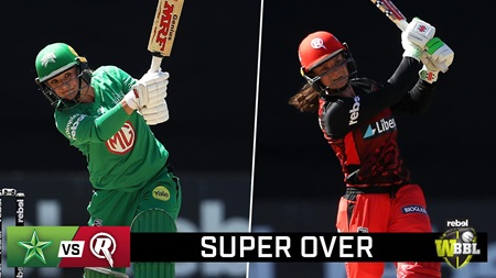 Watch the full Super Over from the Melbourne Derby