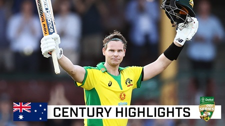 Smith clubs third fastest men's ODI ton by an Aussie