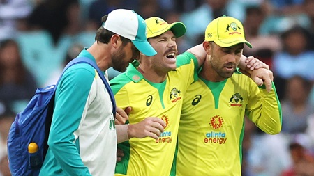 Warner limps off SCG after suffering groin injury