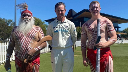 Shield cricket's Welcome to Country for NAIDOC Week