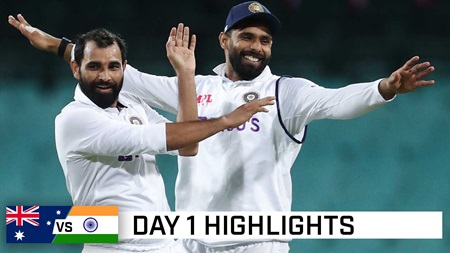 Wickets aplenty but India tickled pink after day one
