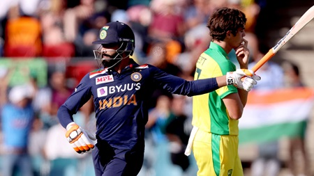 Jadeja dines out in death overs to lift India