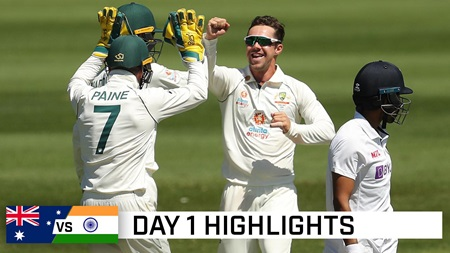 Day one highlights: Old firm stand up against Aus A