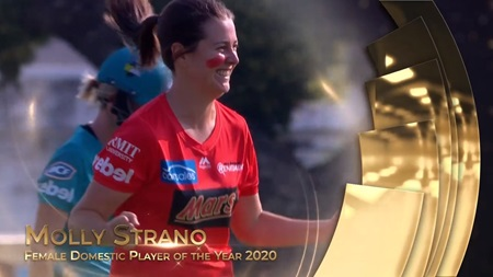 Female Domestic Player of the Year 2020: Molly Strano