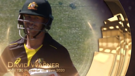 Male T20I Player of the Year 2020: David Warner