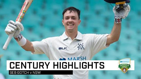 Gotch hits maiden Shield ton against NSW