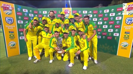 Australia seal T20I series with crushing win in Cape Town