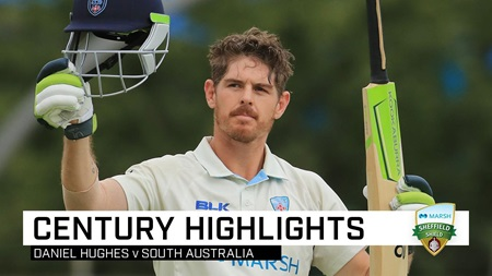 Hughes blazes Redbacks again with second ton of Shield game