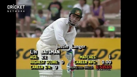 From the Vault: Langer shows guts in testing debut innings