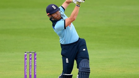 Bairstow equals England record with rapid fifty