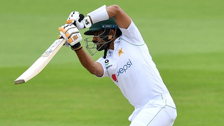 Babar shines as Pakistan edge first day of series
