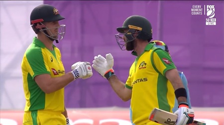 Marsh, Maxwell rescue Aussies with record stand