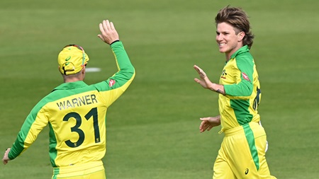 Perfect 10: Red-hot Zampa claims Aussie spin record