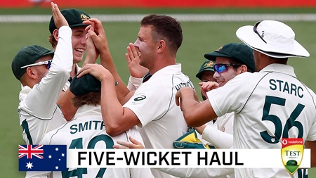 Hazlewood leads Aussie attack with Gabba five-wicket haul