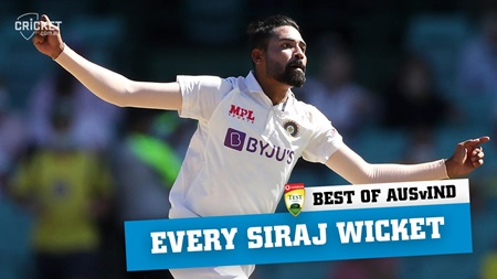 Best of the Border-Gavaskar: Every Mohammed Siraj wicket