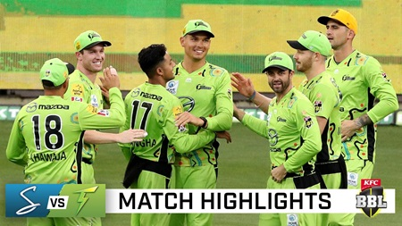 Thunder storm to victory over Strikers to reach BBL finals