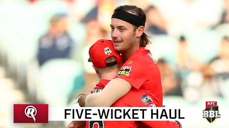 Zak attack: Five wickets for young Renegade