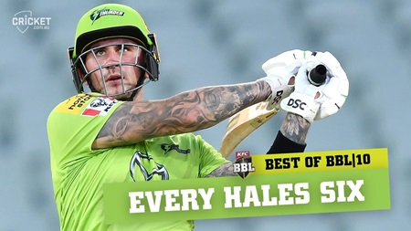 Hales storm! Every six from a record-breaking season