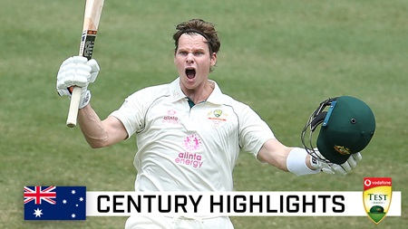 Super Smith raises the bat at the SCG with 27th Test ton