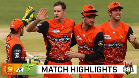 Scorchers down Thunder to make it four in a row