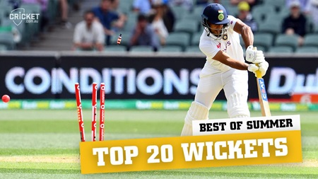 Top 20 wickets of the 2020-21 international season