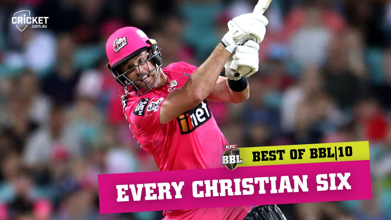 Every six: Christian dazzles in Sydney magenta