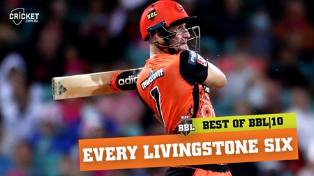 Every six: Livingstone dominates with 28 maximums