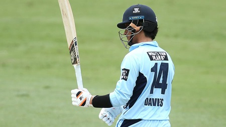 Debutant Davies blazes rapid fifty in maiden knock