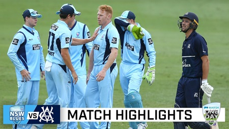 Smith, Cummins fire as NSW give the Vics the Blues