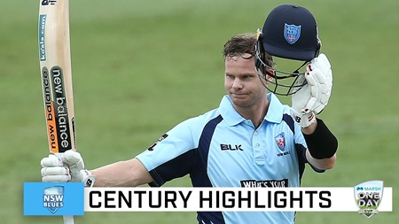 Smith marks Blues return with stunning Marsh Cup ton