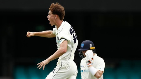 Third-gamer Perry's elite build-up to Smith wicket